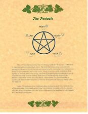 Book of Shadows Spell Pages ** Pentacle ** Wicca Witchcraft BOS