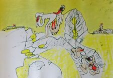 """ROBERTO MATTA 1970 """"Tua Mecum Ludit"""" Erotic Composition HAND SIGNED CHILE"""