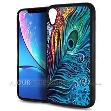( For iPhone XR ) Back Case Cover AJH11554 Peacock
