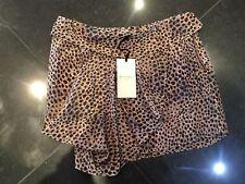 NWT Twenty8Twelve New & Genuine Ladies Brown 100% Silk Short Skirt UK Size 8