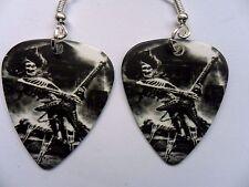 Skull // Skeleton Guitar Player  Guitar Pick   Earrings IRON MAIDEN