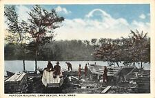 Ayer Massachusetts~Pontoon Building Camp Devens~1920 Postcard