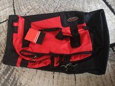 Pierre Cardin trek 2k black&red travel bag suitcase with wheels, XL 26x15 in