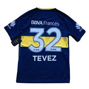 2017/18 Boca Juniors Home Jersey #32 Carlos Tevez Medium Nike Soccer NEW