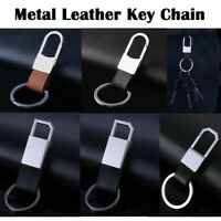 Metal Leather Waist Hanging Keychain Keyring Key Ring Chain Men Key Fob