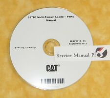 SEBP5918 Caterpillar 257B3 Multi Terrain Skid Loader Parts Manual Book CD