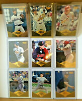 1997 Pinnacle Museum Collection LOT of 9 parallel NM+ Caminiti Hershiser Cedeno