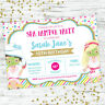 PAMPER SPA PARTY BIRTHDAY INVITATIONS INVITE PARTY SUPPLIES GIRLS BEAUTY FACIAL