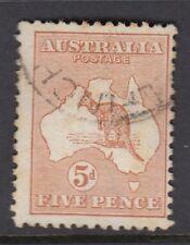 AUSTRALIA :1913 5d chestnut  die II SG 8 used