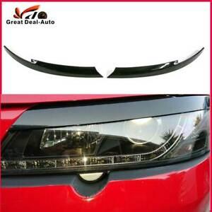 2pcs Headlight Eyelid Eyebrow for Holden Commodore VY VZ Eyelid Eye Lid Black
