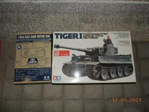 TAMIYA 1/35 R/C TIGER 1 TANK MOTORIZED KIT  REMOTE FULL SET