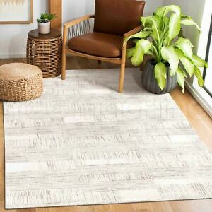 Pateley Cream Geometric Lines Contemporary Floor Rug - 3 Sizes **NEW**