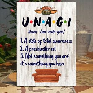Unagi definition print - Friends TV show-Self standing decor gift Wooden Plaque