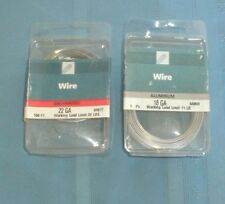 Lot of 2 Packages: 1 pkg 22 gauge galvanized wire & 1 pkg 18 Gauge Aluminum Wire