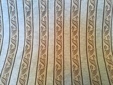 UPHOLSTRY FABRIC  WOVEN  TEXTURED STRIPE ~SAGE GREEN, CREAM, BROWN 10.5 YDS