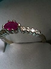 Vintage 14k Yellow Gold Diamond & Ruby Size 3 Ring 1.9 Gram Beauty