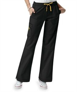 WonderWink Women's Black 4-stretch cargo scrub Pants size XL *