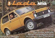 Lada Niva Prospekt Autoprospekt Geländewagen brochure broschyr brosjyre