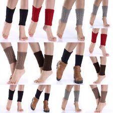 Womens Winter Crochet Boot Cuffs Knitted Toppers Boots Socks Leg Warmers #7182