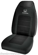 honda sport seat covers embroidered black white car coupe race fast protective