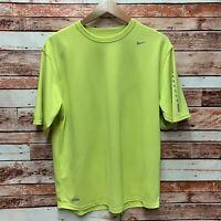 "X-Large NWT Bright Yellow  Men/'s Size Nike /""Nike Logo/"" Dri-Fit T-Shirt Color"