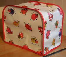 Red Edged Cartoon Cows Vinyl Cover for Kenwood Chef Food Mixers