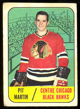 1967 68 TOPPS HOCKEY #116 PIT MARTIN VG CHICAGO BLACK HAWKS FREE SHIP TO USA