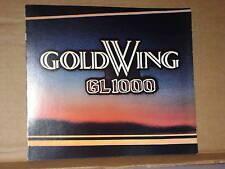 1978 Honda GL1000 GOLDWING Motorcycle Sales Brochure - Literature
