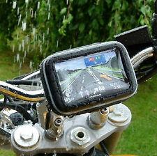 "Motorbike Handlebar Mount&3 Pads& GPS Case - 5"" Garmin Nuvi,TomTom GPS Navigator"