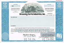 USA BROWNING-FERRIS INDUSTRIES BFI stock certificate SPECIMEN