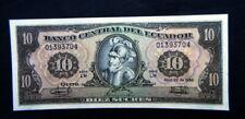 1986 Ecuador Banknote 10 Sucres UNC GEM high quality consecutive