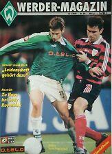 Programm 1998/99 SV Werder Bremen - Bayer Leverkusen / Hansa Rostock (Pokal)