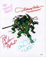 Teenage Mutant Ninja Turtles CAST X4 SIGNED 8X10 Photo Autograph JSA COA Cert