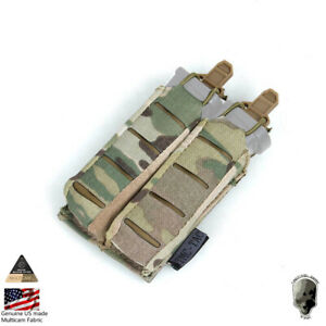 TMC Tactical Double Pistol Mag Pouch 9mm MOLLE Mag Carrier Lightweight Gear Camo