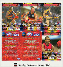 2004 AFL Teamcoach Trading Card How To Play Team set Adelaide (10)