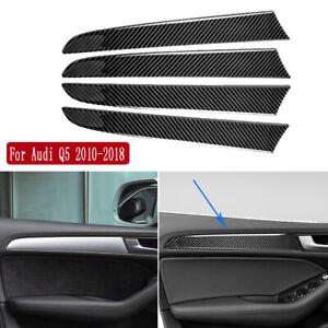 Carbon Fiber Interior Door Panel Decorative Trim For Audi Q5 2010-18 & SQ5 13-17