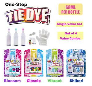 Three Colour One Step Tie Dye Kit Bright Fabric Super Max Vibrant Value Combo