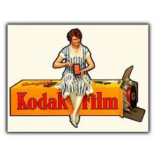 Pellicola KODAK FILM macchina fotografica in metallo Insegna Placca Parete Retrò Vintage, stampa Pubblicità c1935