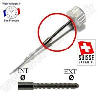 Rallonge Suisse Tige de remontoir de montre Dim de 0,5 à 1,4 mm Stem extension