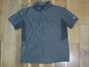 Kuhl Men's Gray Nylon/Polyester Short Sleeve Vented Button Down Shirt Sz XL