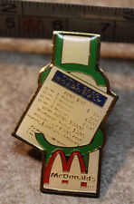 McDonalds Monopoly Boardwalk Title Deed Employee Collectible Pinback Pin Button