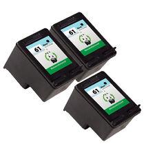 Ink Cartridge for HP Deskjet 2050 3050 1050 1000 HP 61 Black CH561WN 3 Pack