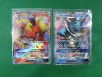 Flareon GX SM171 Vaporeon GX SM172 Black Star Promo Holo Pokemon Card TCG NM