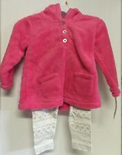 Carter's Girls Toddler Winter Outfit Size 24 Months Pink Faux Fur Top With Pants