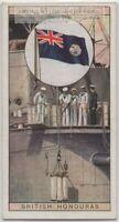 Colonial Flag British Honduras Belize Central America 80+ Y/O  Ad Trade Card