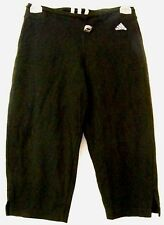 Adidas Womens Black Cropped Exercise Pants Size Xs