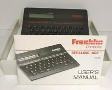 Vintage 1986 Franklin Spelling Ace Computer Sa-88 w/Manual In Box cross word
