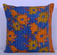"""24"""" KANTHA ETHNIC INDIAN CUSHION PILLOW TOSS THROW COVER Embroidery Indian Boho"""