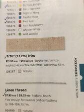 Brand New: Stampin' Up Natural Trim Ribbon (1 X Full Roll)