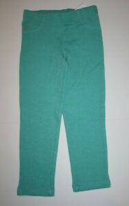 New Carter's Girls Green Jeggings Glitter Pants 4T 5T 6 year Sparkle Holiday